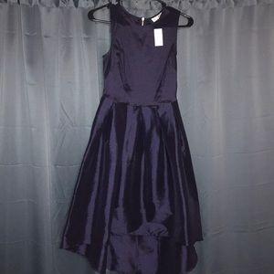 Dresses & Skirts - Asymmetrical navy blue dress